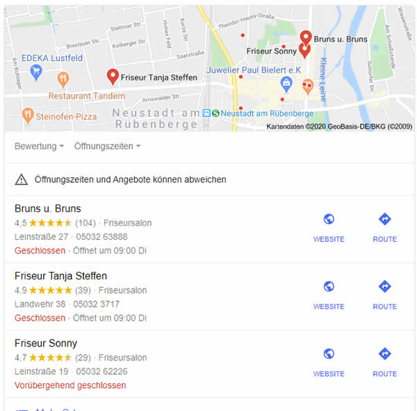 Lokales SEO mit My Business