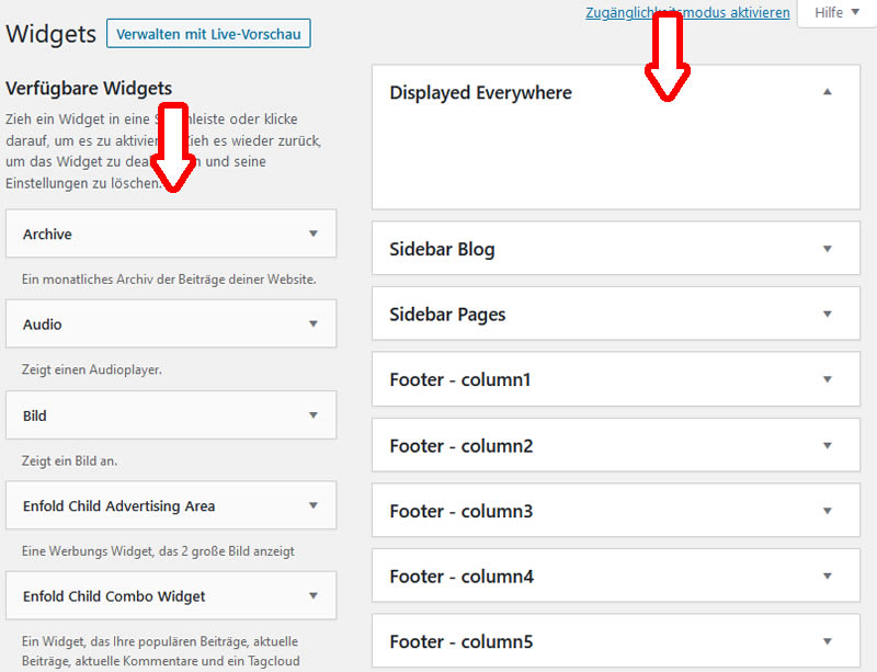 Widgets in WordPress