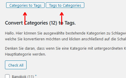 Categories to Tag - Tag to Categories