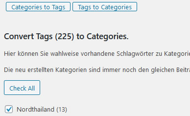 Convert Tag to categorie