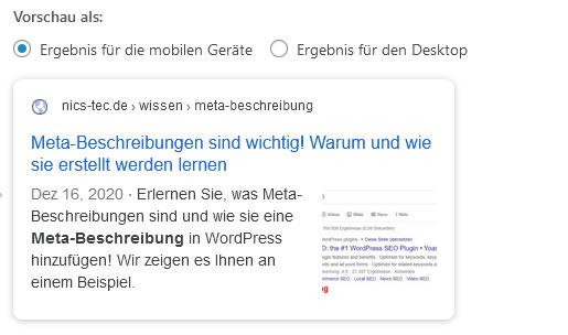 Meta-Beschreibungen in WordPress