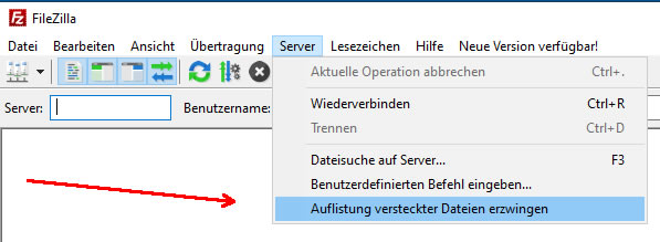 Wordpress Wartungsmodus Fehler per FTP bearbeiten