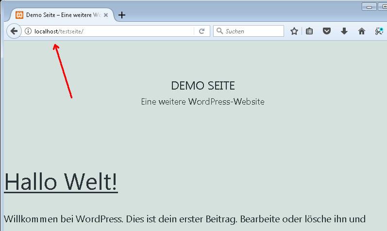 Wordpress lokal ausführen
