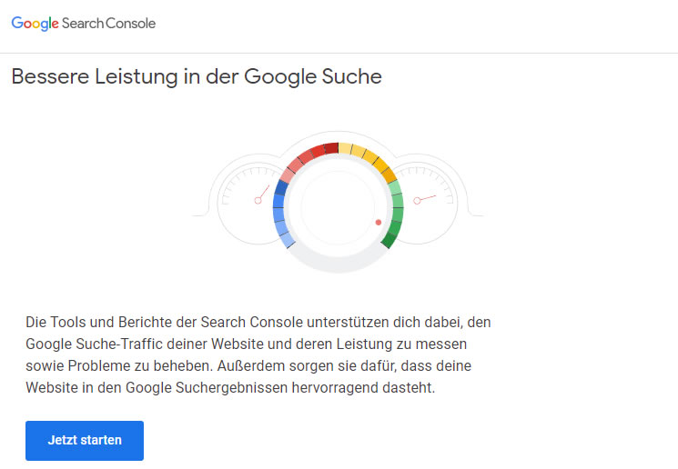 Google Search Console Anmeldung