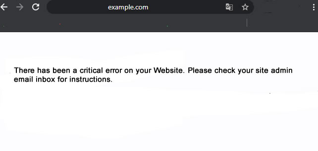 Kritischer WordPress Fehler